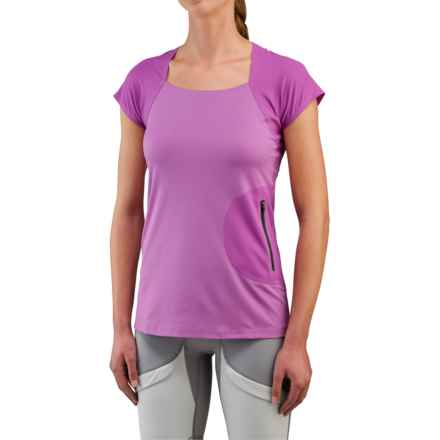 Merrell Capra Ergo Shirt - Short Sleeve (For Women) in Hyacinth Violet - Closeouts
