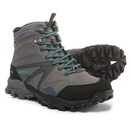Merrell Capra Glacial Ice+ Mid Hiking Boots - Waterproof, Insulated (For Women) in Charcoal/Grey - Closeouts