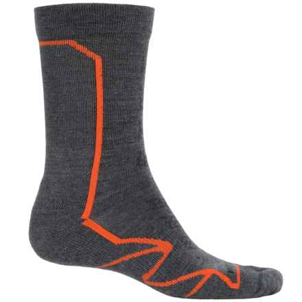 Merrell Capra Hiking Socks - Merino Wool, Crew (For Men) in Charcoal/Merrell Orange - Closeouts