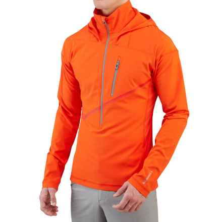 Merrell Capra Hybrid Wind Layer Shirt - UPF 40+, Long Sleeve (For Men) in Red Pepper - Closeouts