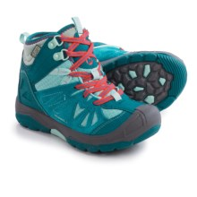 Merrell Capra Mid Boot - Waterproof, Suede (For Little and Big Girls) in Turquoise - Closeouts