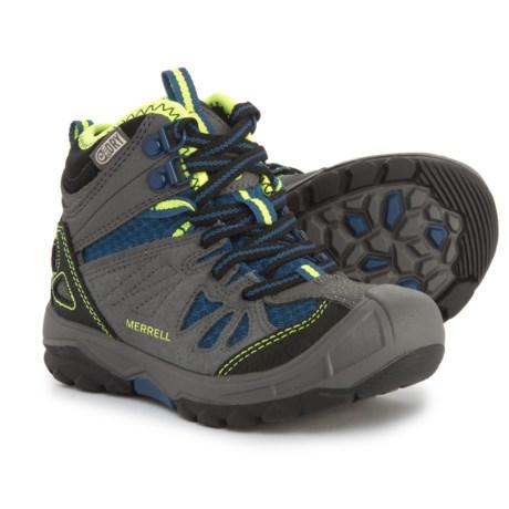 Merrell Capra Mid Boots - Waterproof (For Boys) in Grey/Blue