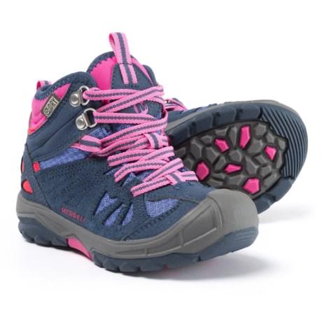 Merrell Capra Mid Boots - Waterproof (For Girls) in Navy/Multi