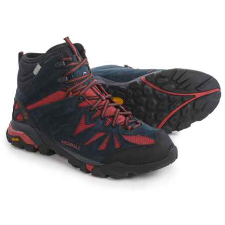 Merrell Capra Mid Hiking Boots - Waterproof, Suede (For Men) in Navy - Closeouts