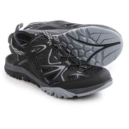 Merrell Capra Rapid Sieve Sport Sandals (For Men) in Black - Closeouts