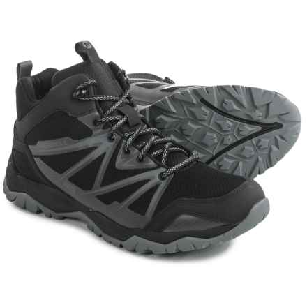 Merrell Capra Rise Mid Hiking Boots - Waterproof (For Men) in Black - Closeouts