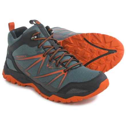Merrell Capra Rise Mid Hiking Boots - Waterproof (For Men) in Castle Rock - Closeouts