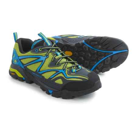 Merrell Capra Sport Hiking Shoes (For Men) in Black/Lime Green - Closeouts