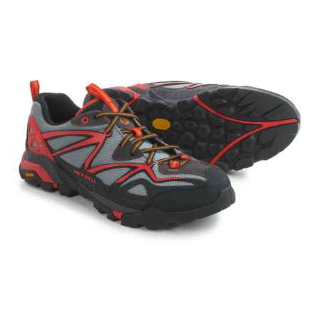 Merrell Capra Sport Hiking Shoes (For Men) in Light Grey/Red - Closeouts