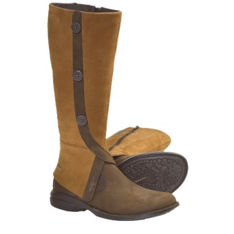 Merrell Captiva High Leather Boots (For Women) in Cinnamon