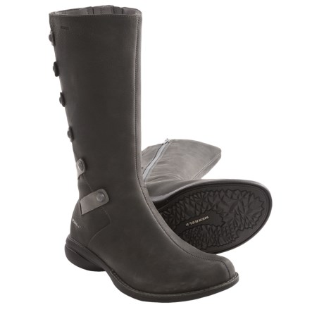 Merrell Captiva Launch Boots - Leather (For Women) in Drizzle
