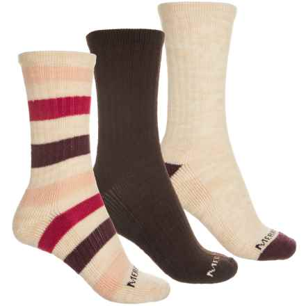 de909b87e2e82 Merrell Casual Socks - 3-Pack (For Women) in Amp Hora - Closeouts