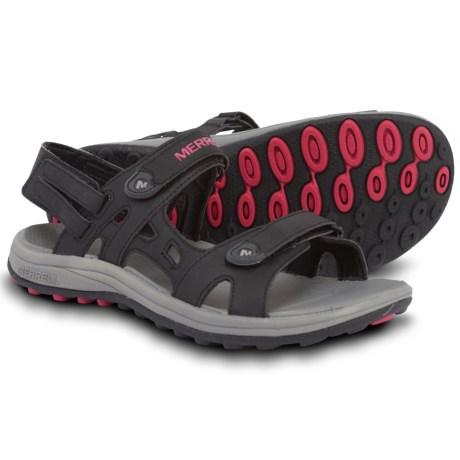 76dd2ad14584 Merrell Cedrus Convertible Sport Sandals (For Women) in Black Rose Red