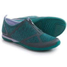 Merrell Ceylon Zip Shoes - Slip-Ons (For Women) in Teal/Lilac - Closeouts