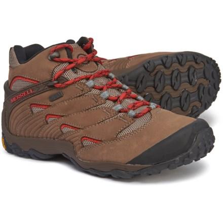 817b6efdca01 Merrell Chameleon 7 Mid Boots - Waterproof (For Men) in Boulder - Closeouts