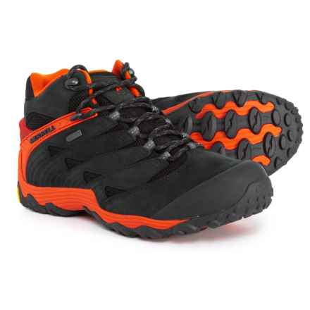 Merrell Chameleon 7 Mid Hiking Boots - Waterproof (For Men) in Fire - Closeouts