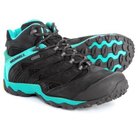 aa81d94da18a Merrell Chameleon 7 Mid Hiking Boots - Waterproof (For Women) in Ice -  Closeouts