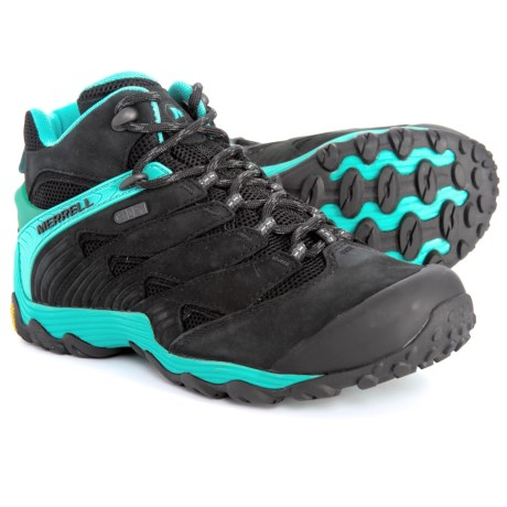 5b489f72433 Merrell Chameleon 7 Mid Hiking Boots - Waterproof (For Women) in Ice
