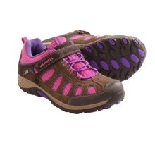 Merrell Chameleon Low A/C Shoes - Suede (For Kids) in Brown/Pink - Closeouts