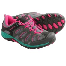 Merrell Chameleon Low Lace Shoes - Suede (For Big Kids) in Grey/Pink - Closeouts
