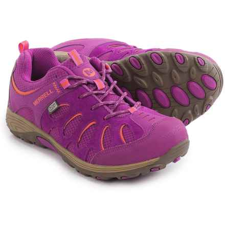 Merrell Chameleon Low Lace Shoes - Suede (For Little and Big Kids) in Fuschia/Orange - Closeouts