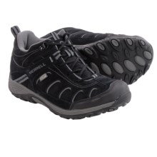 Merrell Chameleon Mid Lace Hiking Shoes - Waterproof (For Little Kids) in Black - Closeouts