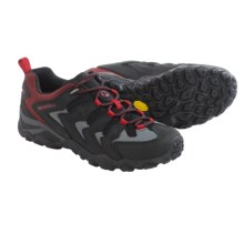 Merrell Chameleon Shift Ventilator Hiking Shoes (For Men) in Black/Red - Closeouts