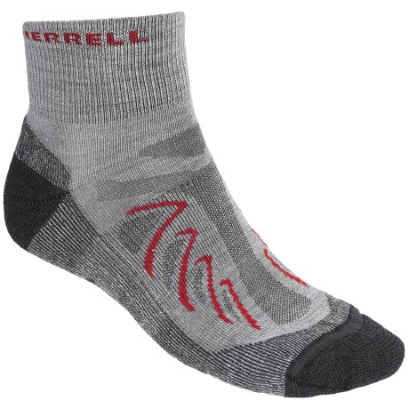 Merrell Chameleon Socks - Wool Blend, Quarter-Crew (For Men) in Drizzle