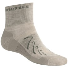 Merrell Chameleon Socks - Wool Blend, Quarter-Crew (For Men) in Scd Tan/Olive - 2nds