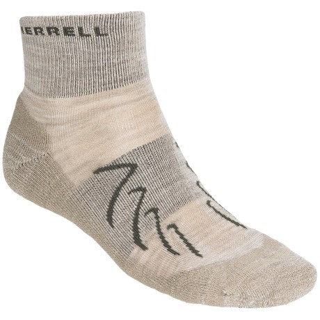 Merrell Chameleon Socks - Wool Blend, Quarter-Crew (For Men) in Stone