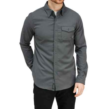 Merrell Chapman Flannel Shirt - Long Sleeve (For Men) in Asphalt - Closeouts