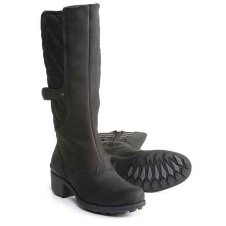 Merrell Chateau Tall Pull Boots - Waterproof, Leather (For Women) in Black - Closeouts