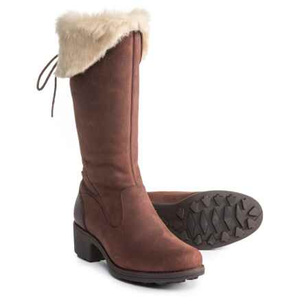 Merrell Chateau Tall Zip Polar Boots - Waterproof, Insulated, Leather (For Women) in Brunette - Closeouts
