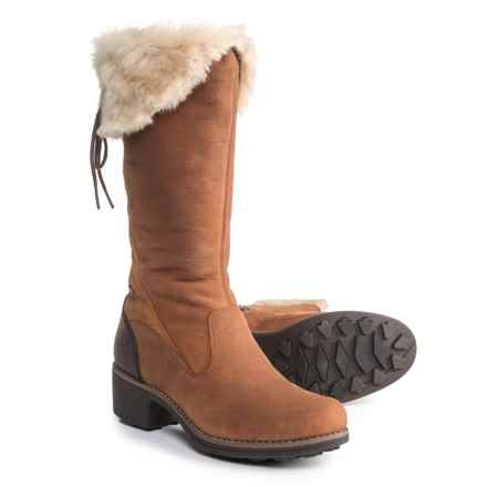 Merrell Chateau Tall Zip Polar Boots - Waterproof, Insulated, Leather (For Women) in Merrell Oak - Closeouts