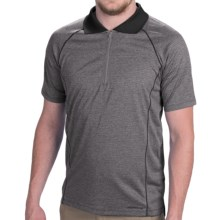 Merrell Connect Polo Shirt - Zip Neck, Short Sleeve (For Men) in Granite Heather - Closeouts