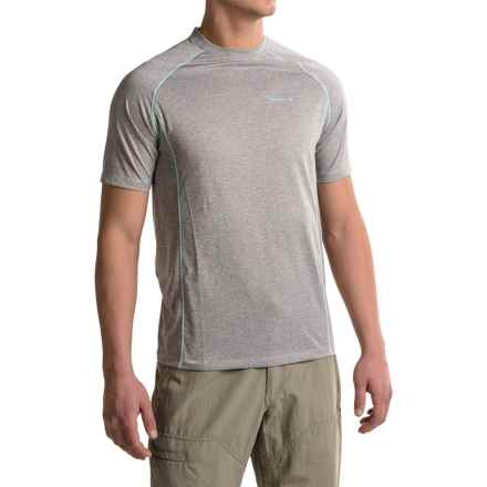 Merrell Connect T-Shirt - Short Sleeve (For Men) in Sidewalk/Cockatoo - Closeouts