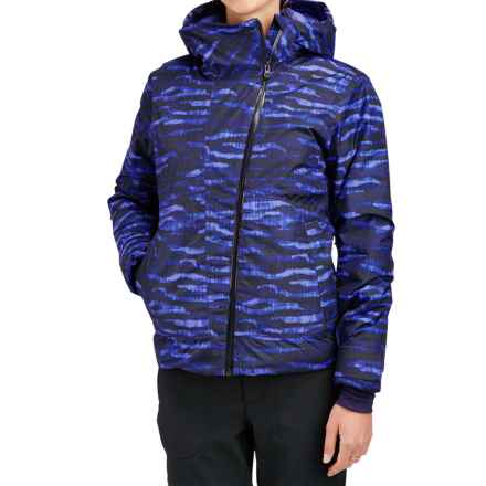 Merrell Copenhagen Featherless Jacket - Waterproof, Insulated (For Women) in Violet Storm Print - Closeouts