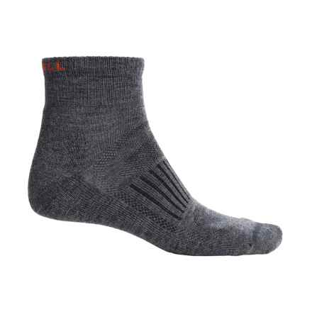 Merrell Courant Mini Hiking Socks - Merino Wool, Ankle (For Men) in Charcoal Solid - Closeouts