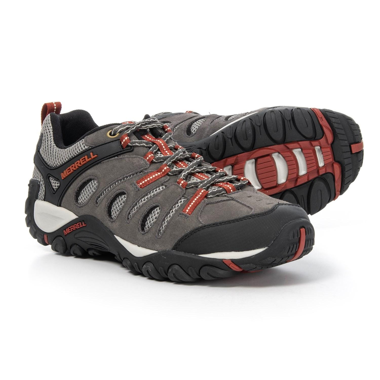 Merrell Crosslander Vented Hiking Shoes (For Men) in Granite Red Ochre fb35a6f72