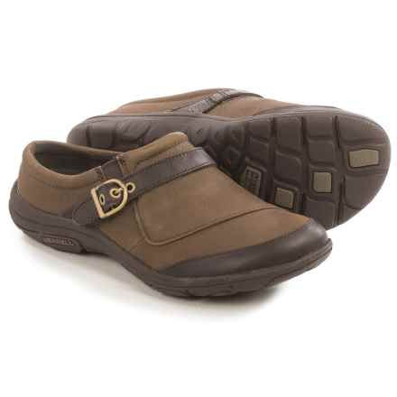 Merrell Dassie Buckle Leather Shoes (For Women) in Char Brown - Closeouts