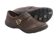 Merrell Dassie Buckle Leather Shoes (For Women) in Coffee - Closeouts