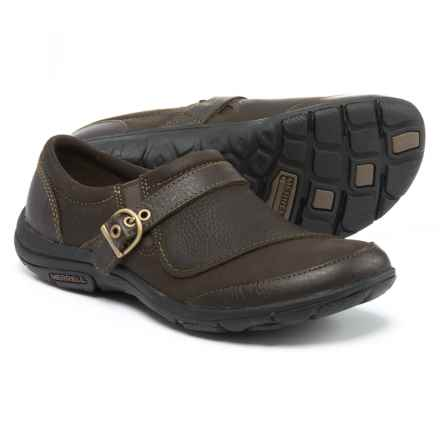 Merrell Dassie Buckle Leather Shoes (For Women) in Espresso - Closeouts
