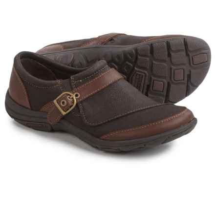 Merrell Dassie Buckle Shoes - Leather, Slip-Ons (For Women) in Brown - Closeouts