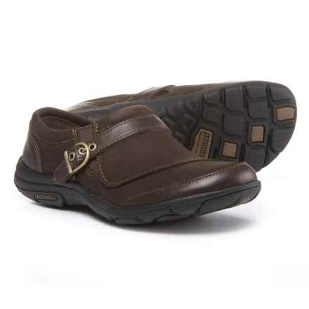 Merrell Dassie Buckle Shoes - Leather, Slip-Ons (For Women) in Espresso - Closeouts