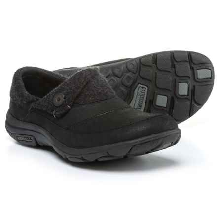 Merrell Dassie Fold Moc Shoes - Nubuck, Slip-Ons (For Women) in Black - Closeouts