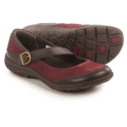 Merrell Dassie Mary Jane Shoes - Leather (For Women) in Deep Red/Espresso - Closeouts