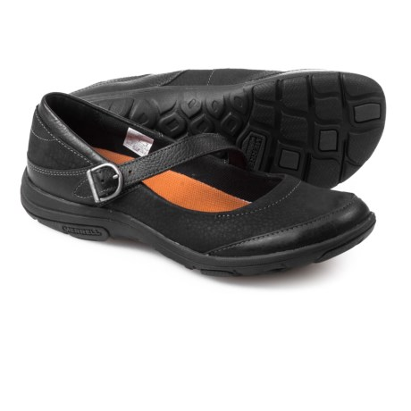 Merrell Dassie Mary Jane Shoes - Nubuck (For Women) in Black