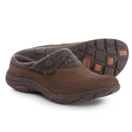 Merrell Dassie Open-Back Clogs- Leather (For Women) in Bracken - Closeouts