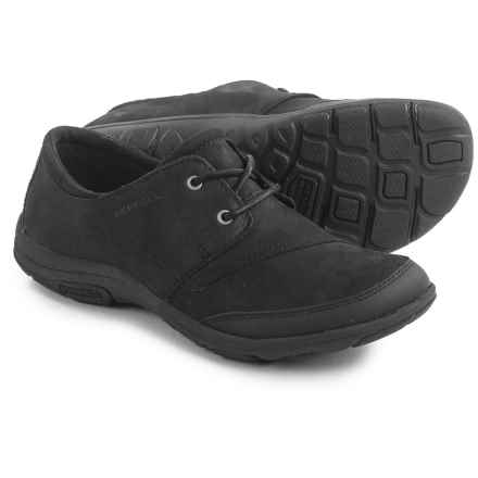 Merrell Dassie Tie Shoes - Leather (For Women) in Black - Closeouts