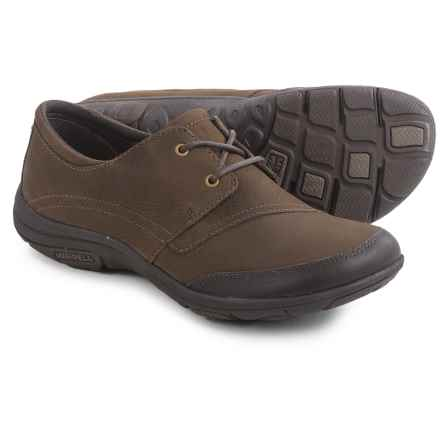 Merrell Dassie Tie Shoes - Leather (For Women) in Char Brown - Closeouts